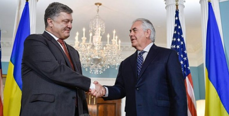 Госсекретарь США Тиллерсон прибыл в АП: как его встретил Порошенко – видео